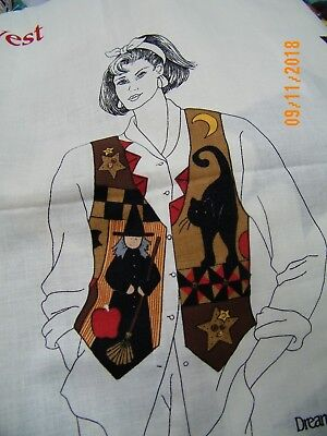 Halloween Vest by Dream Spinners CUT & SEW  Cotton Fabric Panel