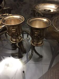 """Moving sale"" pair of silver miniature ice buckets"
