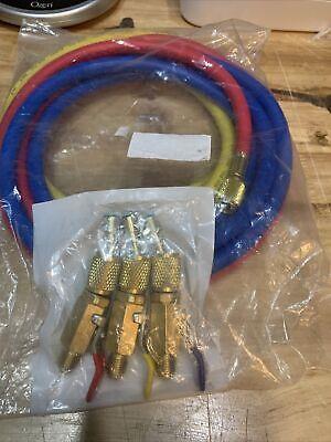 Ac Refrigerant Charging Hose With Ball Valve R410a Hvac Hose Kit 14 Sae Thread