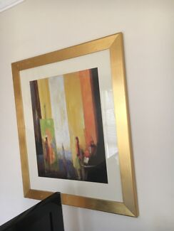 Gold frame painting /picture frame