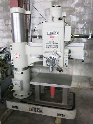 Ikeda Radial Drill 10 Column 36 Arm With Custom Drill Table