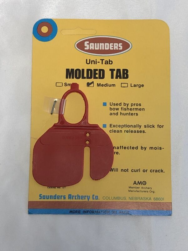 Saunders Archery NOS Uni Tab Molded Tab Pack Of 4