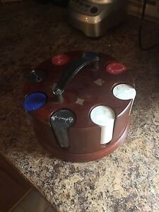 Poker chips and stand