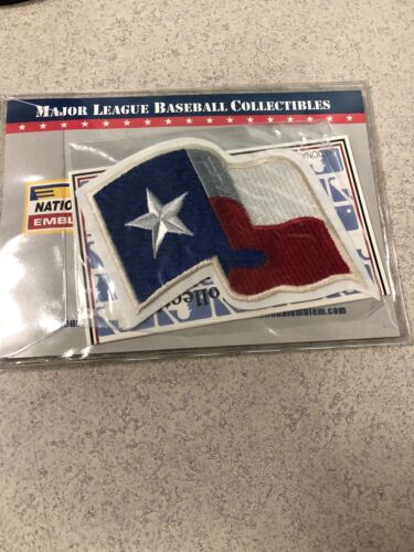 Texas Rangers Flag Collector Patch MLB New In Package Free S