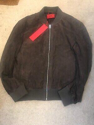 Hugo By Hugo Boss Larris Suede Jacket Size Small Grey BNWT RRP £450