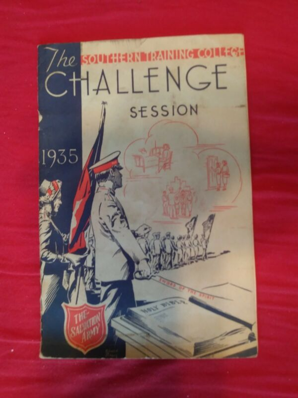 "Salvation Army Program ""Challenge"" Session 1934-35 Rare Find For SA Collectors."