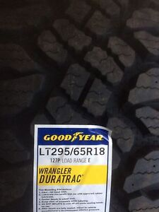 LT 295 65 r18 Goodyear Duratracs.  New