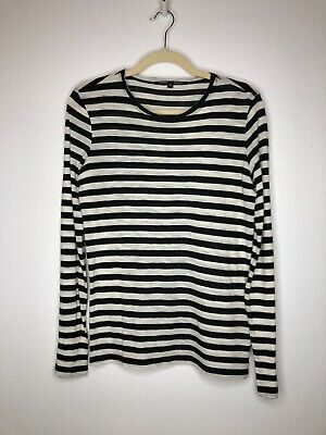 Proenza Schouler Long Sleeve White And Black Stipe Small As Is