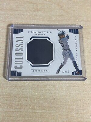 2019 National Treasures Baseball Fernando Tatis Jr. Colossal Jersey /99 #4095