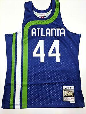 Pete Maravich Atlanta Hawks Mitchell & Ness Blue Swingman Jersey NBA Pete Maravich Jerseys
