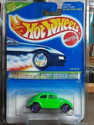 Hot Wheels 1995 Treasure Hunt #357 VW Bug w/protecto pack