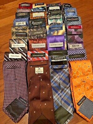 Lot 30 Pcs Mens Neckties 1 NWT Nautica C Klein Dior + More Quilting Wear Ties