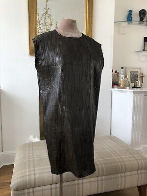 """Metallic Bronze """"Jijil"""" Pleated Dress Size 40 (small)"""