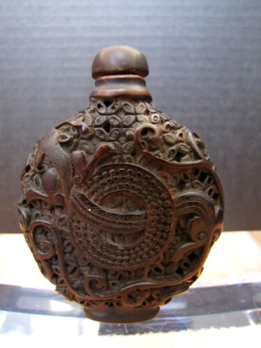 Antique Chinese Wood Snuff Bottle.
