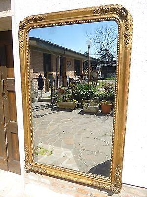 Grande Specchiera FOGLIA ORO 159x103 n49 epoca 800 dorata Specchio al Mercurio