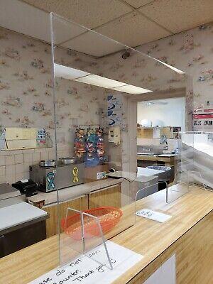 Sneeze Guard Plastic Divider Protection Barrier Shield Checkout Counter Desk