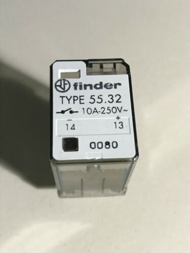 Finder Relay ,  Type 55.32   24 VDC coil, 10A 250 VAC