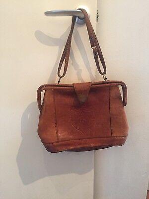 Gorgeous Vintage Tan Leather Handbag Martin