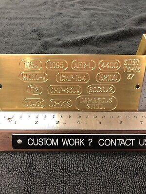 Steel Alloys For Knife Making Master Template Engraving Plate For New Hermes