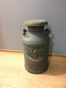 Antique American Milk Canister