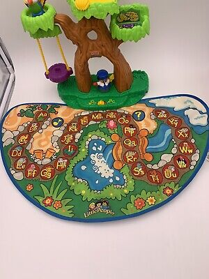 Fisher Price Little People ABC Alphabet Zoo Animal Tree House And Mat Sounds