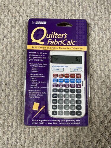 Quilter s FabriCalc Quilt Design Fabric Estimating Open Box Unused Complete - $24.99