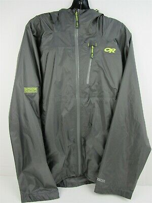 Outdoor Research Men's Helium HD Jacket Waterproof Shell-Large Pewter
