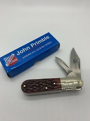 JOHN PRIMBLE 2-BLADED BARLOW KNIFE - BROWN JIGGED BONE - JP 30 0020BB - NIB