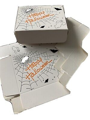 10 pcs Nougat Boxes Happy Halloween Cookie Bag Party Supplies for Candy Pastry