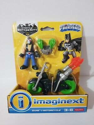 Fisher-Price Imaginext DC Super Friends Bane Action Figure and Motorcycle NEW