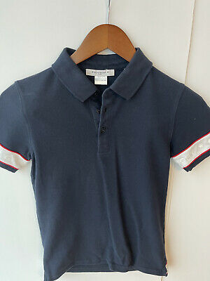 Givenchy Boys Polo Shirt, Navy, Size 12