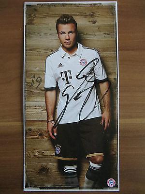 Handsignierte AK Autogrammkarte *MARIO GÖTZE* Bayern München 13/14 2013/2014