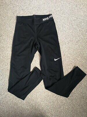 Nike Pro Dri-Fit Black Leggings ~ Size S