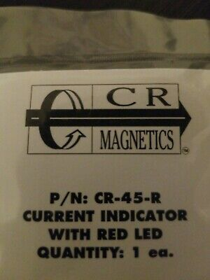 Cr Magnetics Cr-45-r Current Indicator With Red Led Reopened Package.
