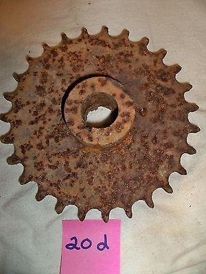 """Vintage Gear Sprocket  Industrial Steampunk Repurpose Metal Rusty Pulley 7"""""""