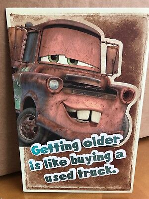 Disney Cars Mater Adult Birthday Card American Greetings car automobile racecar (Adult Birthday)