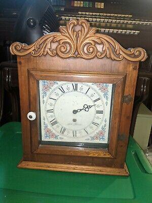 ANTIQUE MANTEL CLOCK wood SETH THOMAS vintage works with key