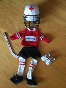 Hockey outfit fits American Girl