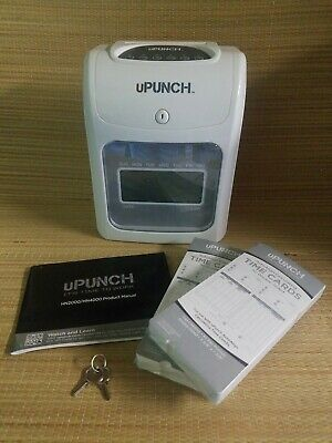 Upunch Hn4000 Electronic Time Clock W Keys Time Cards