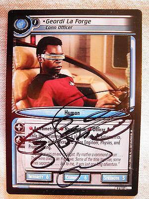 Autographed  2E  Geordi La Forge, Conn Officer  (LeVar Burton)