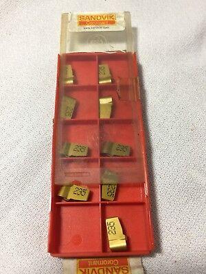 New 9 Pieces Sandvik Grooving Inserts N151.2-500-40-4p 235 Coated