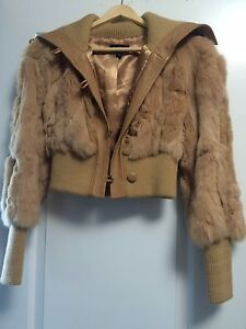 Bebe Fur Coat Size XS