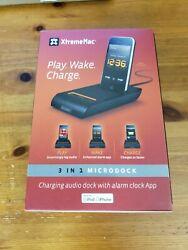XtremeMac 3 In 1 MicroDock, Ipod Iphone Charging Dock, Alarm Clock, Speaker