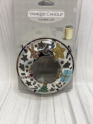 Yankee Candle Illuma Lid Jar Candle Topper Christmas NEW, box5