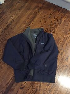 Polar fleece lined waterproof jacket size L