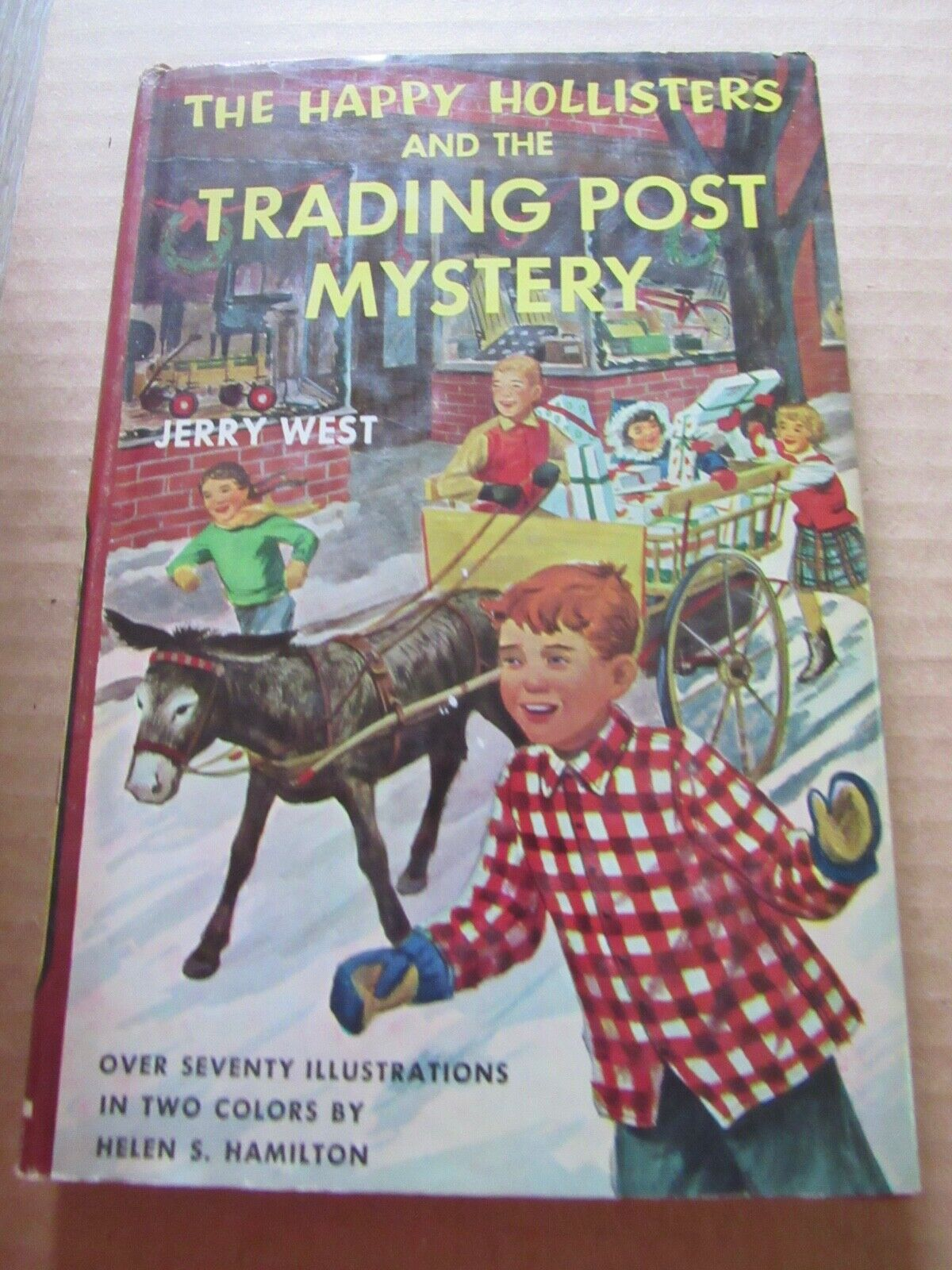 THE HAPPY HOLLISTERS AND THE TRADING POST MYSTERY..1964.JERRY WEST  - $9.00
