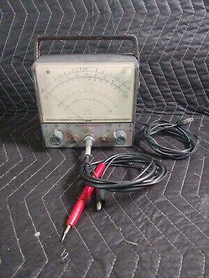 Vintage Rca Wv-98b Senior Volt Ohmyst With Probe Testing Equipment