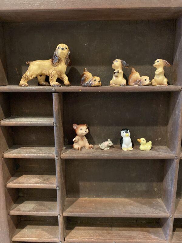 Group of 13 Assorted Vintage Hagen Renaker Animals
