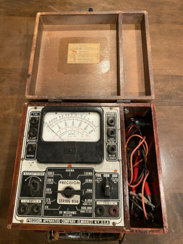 Vintage 1940's Precision Apparatus Series 856 With Wooden Case