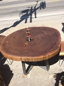 Spectacular Walnut Round Dining Table Liquidation Sale Price!